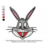 100x100 Bugs Bunny Face Embroidery Design Instant Download