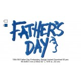 100x100 Father Day Embroidery Design Instant Download 02