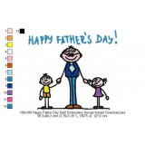100x100 Happy Father Day Dad! Embroidery Design Instant Download