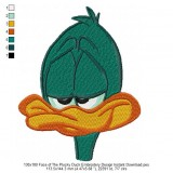 130x180 Face of The Plucky Duck Embroidery Design Instant Download