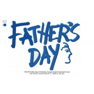 130x180 Father Day Embroidery Design Instant Download 02