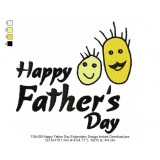 130x180 Happy Father Day Embroidery Design Instant Download