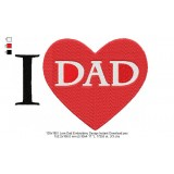 130x180 I Love Dad Embroidery Design Instant Download