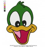 130x180 Plucky Duck Face Embroidery Design Instant Download