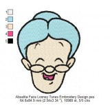 Abuelita Face Looney Tunes Embroidery Design