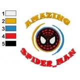 Amazing SpiderMan Embroidery Design