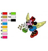 Angel Minnie Mouse Embroidery Design