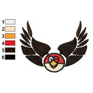 Angry Bird Eagle Logo Embroidery Design