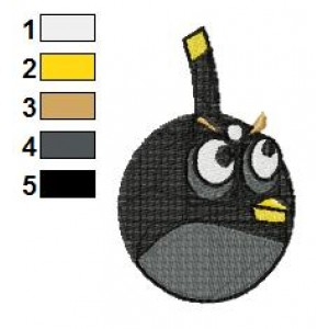 Angry Birds Embroidery Design 011