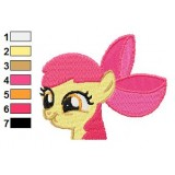 Apple Bloom Face Embroidery Design
