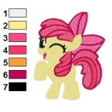 Apple Bloom Wink Embroidery Design