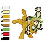Applejack My Little Pony Embroidery Design 02