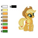 Applejack My Little Pony Embroidery Design 04