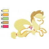 Applejack My Little Pony Embroidery Design
