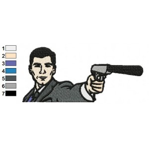 Archer Danger Zone Embroidery Design