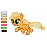 Baby Applejack My Little Pony Embroidery Design