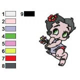 Baby Betty Boop Embroidery Design
