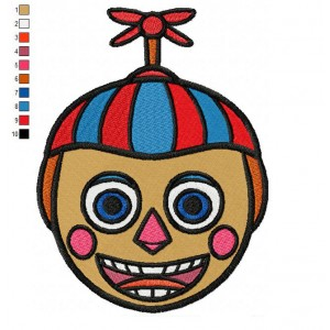 Balloon Boy Five Nights at Freddys Embroidery Design