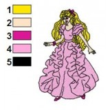 Barbie in Sweet Dress Embroidery Design