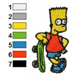 Bart Embroidery Design 02