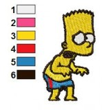 Bart So Dreary Embroidery Design