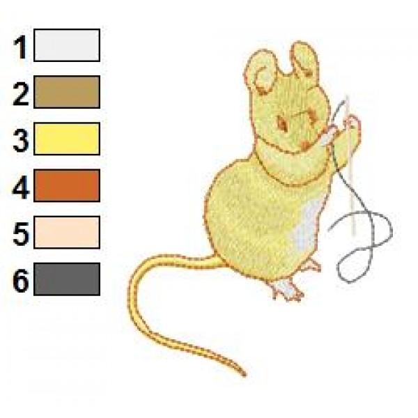 Beatrix Potter Mouse Embroidery Design