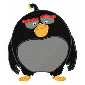 Bomb Angry Birds The Movie Embroidery Design