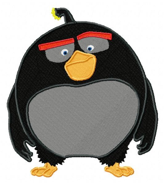 bomb angry birds the movie embroidery design. Black Bedroom Furniture Sets. Home Design Ideas