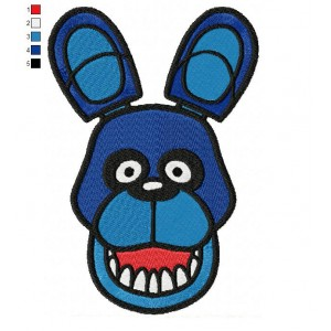 Bonnie Head Five Nights at Freddys Embroidery Design