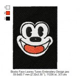 Bosko Face Looney Tunes Embroidery Design