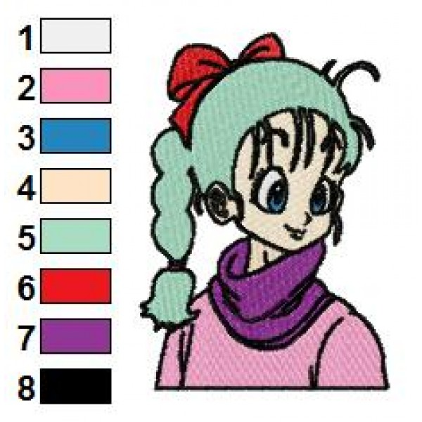 Ball Z Embroidery Designs  Bulma Dragon Ball Z Embroidery