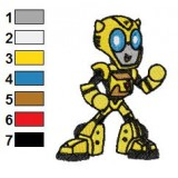 Bumblebee Baby Transformers Embroidery Design