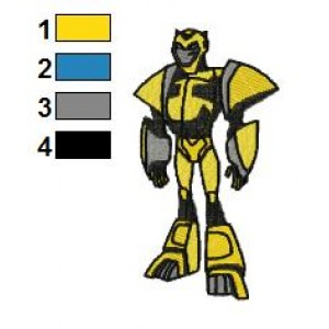 Bumblebee Transformers Embroidery Design