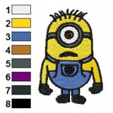 Carl Despicable Me Embroidery Design