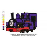 Charlie The Tank Engine Embroidery Design 02