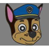 Chase Head Paw Patrol Embroidery Design