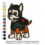 Chase Outfit Paw Patrol Embroidery Design 02