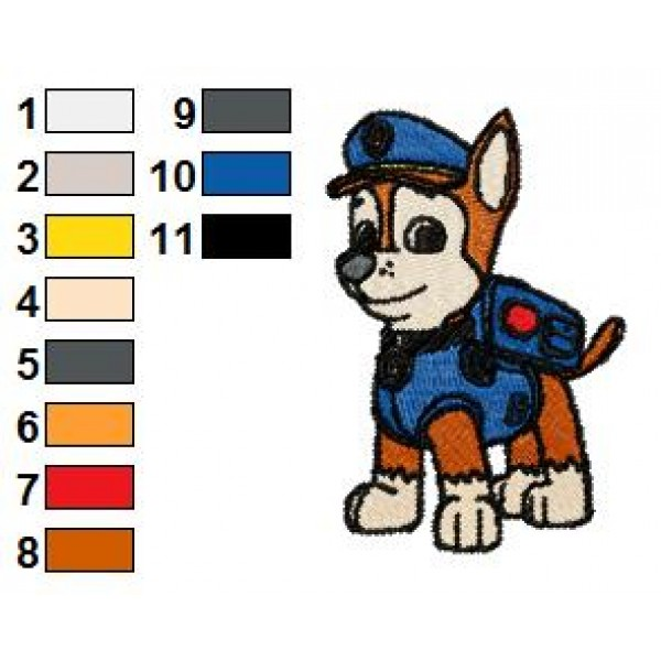 Chase Paw Patrol Embroidery Design