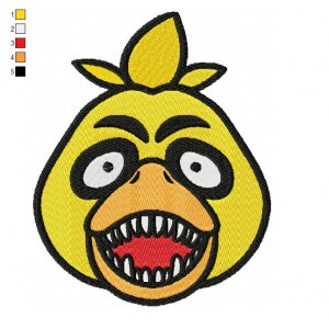 Chica The Chicken Five Nights at Freddys Embroidery Design