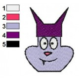 Chowder Face Embroidery Design