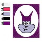 Chowder Face Logo Embroidery Design