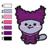 Chowder Kawaii Embroidery Design