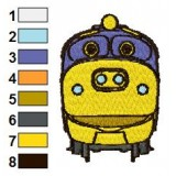 Chuggington Brewster Embroidery Design