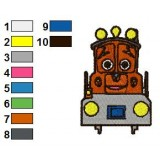 Chuggington Calley Embroidery Design