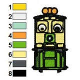Chuggington Dunbar Embroidery Design