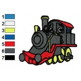 Chuggington Old Puffer Pete Embroidery Design