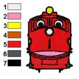 Chuggington Wilson Embroidery Design 02