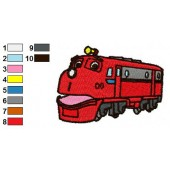 Chuggington Wilson Embroidery Design