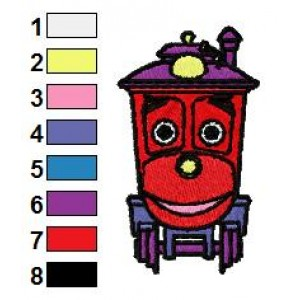 Chuggington Zephie Embroidery Design