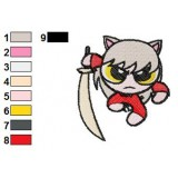 Comic InuYasha Embroidery Design